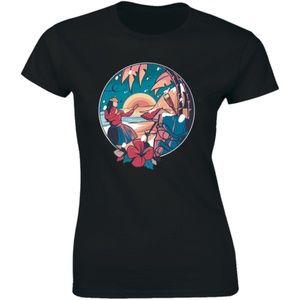 Beautiful Nature Sunset Folk Dancing Lady T-shirt